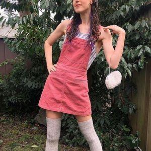 ✨ 3/25$ H&M pink mini overalls dress xs